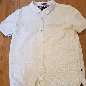 White & Blue Boys Button Down Shirt
